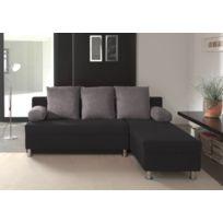 Modern Sofa - Canapé d'angle convertible noir-grisPolo