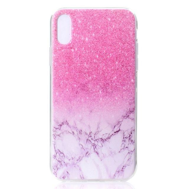 coque iphone xs marbre transparent
