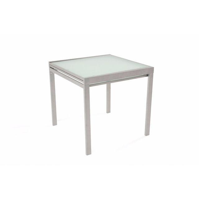 1929ca7339bea7 Inside 75 - Table repas carré extensible Verny gris - pas cher Achat ...