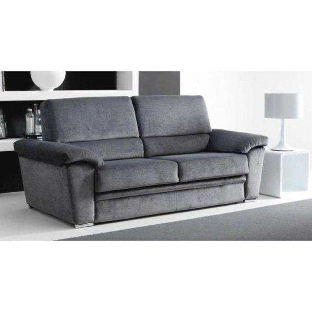 info pour 98b22 4fced EGO canapé grand confort microfibre taupe convertible ouverture RAPIDO 140  190cm ouverture facile