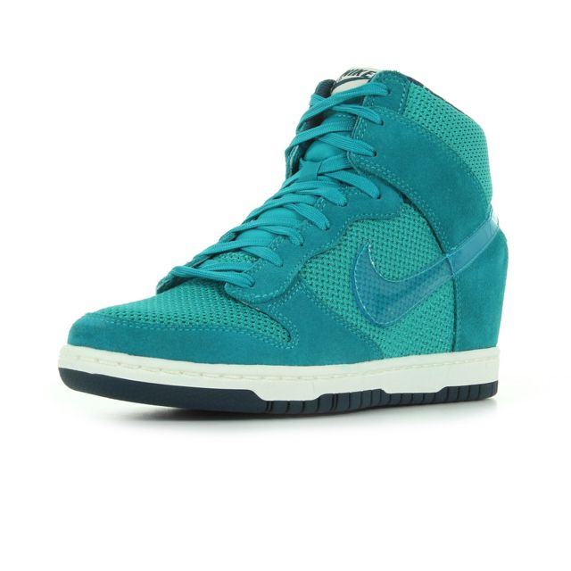 Femme Meilleure vente Nike Dunk Sky Hi Basket [ Turquoise