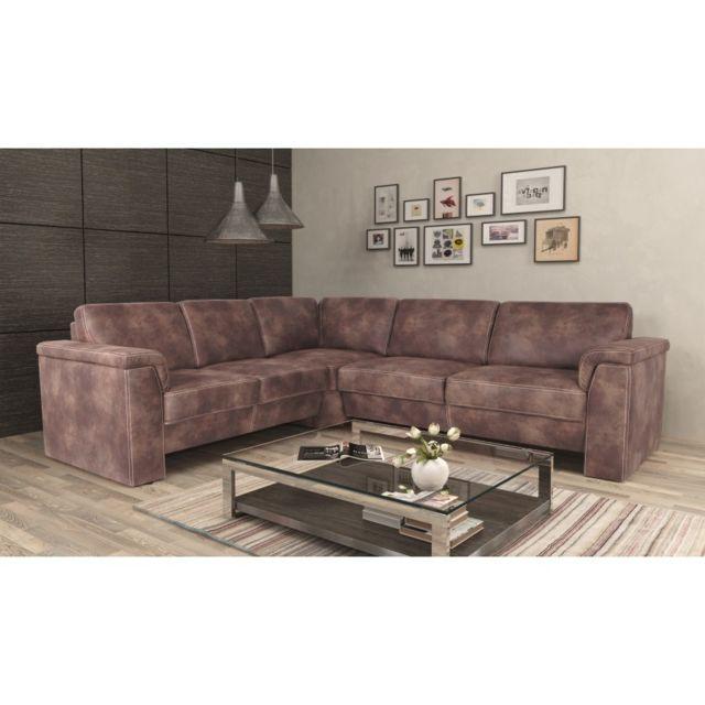 Rocambolesk Canapé Kos 2A2,5 Tobago 15 dunkel brun angle gauche sofa divan