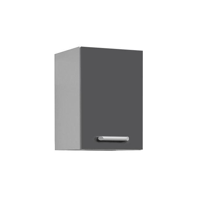Meuble haut L40xH58xP36cm - gris brillant
