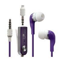 Karylax - Écouteurs Stéréo Filaires couleur Violet pour Samsung : Galaxy S4 / Galaxy S4 Advance / Galaxy S4 Active / Galaxy S4 Mini / G