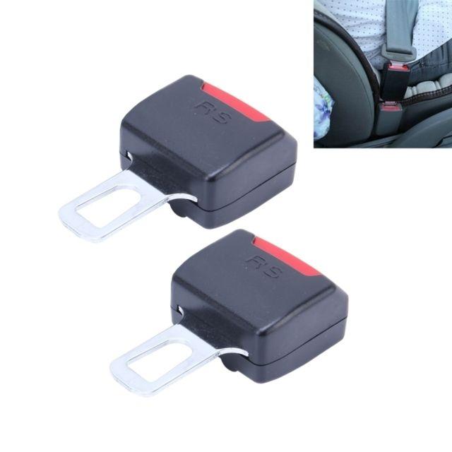 a8862567ade2 Wewoo - 2 Pcs Rs-01 boucle d extension noir de ceinture de sécurité ...