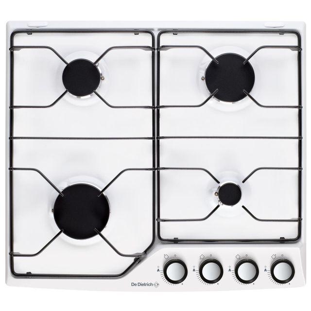 de dietrich table de cuisson gaz émail 4 feux blanc - dpe7610w