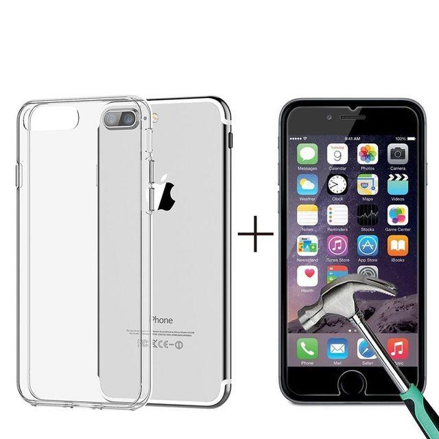 verre trempé iphone 7 coque silicone