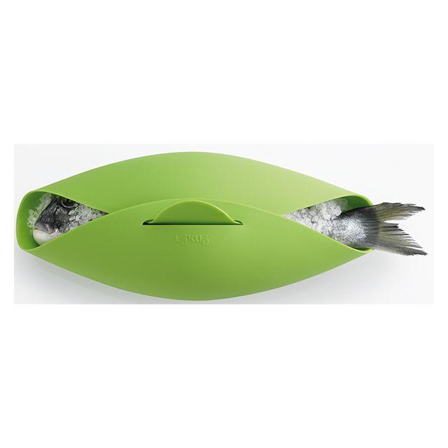LEKUE rôtisseur vapeur en silicone vert - 0200500v10m017