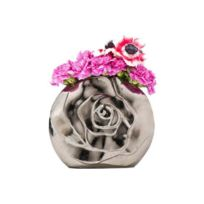 Declikdeco - Vase Vm argent en aluminium Roma