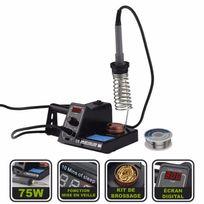 Silex - Station fer à souder électrique 75W + bobine d'étain - écran digital réglages intégrés