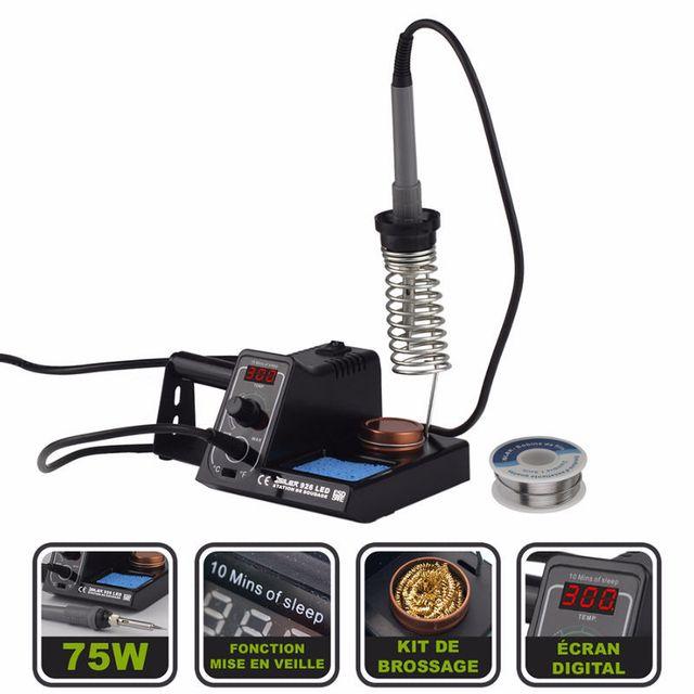 599cc09896aa46 Silex - Station fer à souder électrique 75W + bobine d étain - écran digital