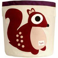 3 SPROUTS - Sac à jouet cylindrique Mes animaux préférés Ecureuil