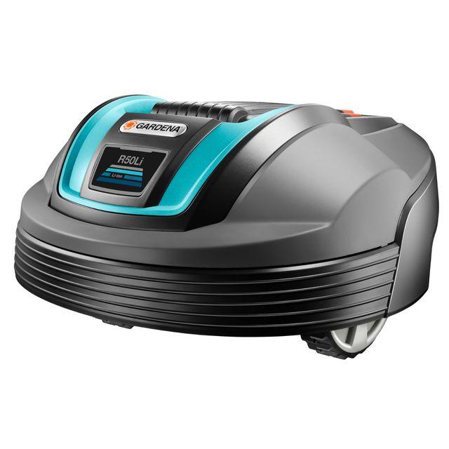 gardena robot tondeuse r50li 500 m pas cher achat. Black Bedroom Furniture Sets. Home Design Ideas