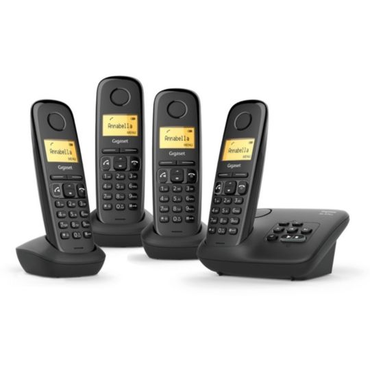 Téléphones sans fil avec répondeur quattro - AL370A - Noir