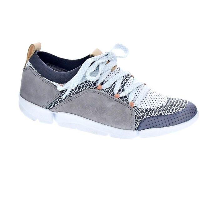 pas cher à vendre vente en ligne nouvelles variétés Clarks - Chaussures Femme Baskets basses modele Tri Amelia ...