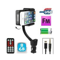 Yonis - Transmetteur Fm iPhone 5 kit mains libres support voiture Micro Sd 8Go