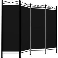Superbe Paravent - 4 panneaux - Cadre en métal laqué - Cloison 180x163cm Neuf