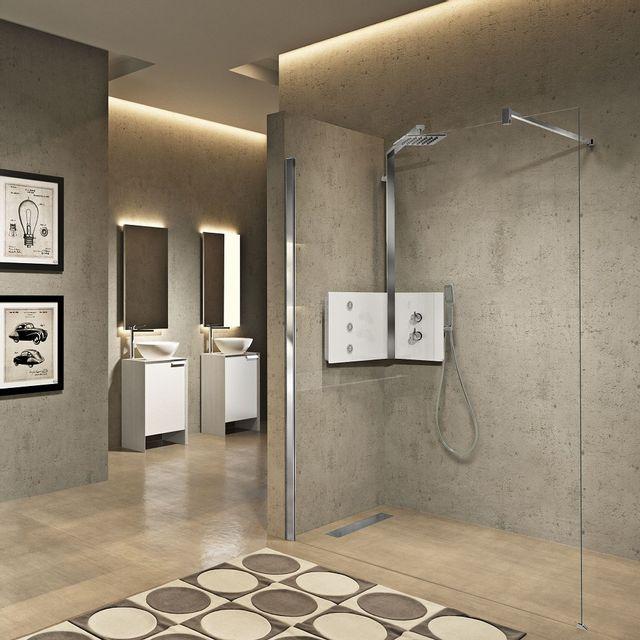 novellini colonne de douche d 39 angle blanche thermostatique sint par pas cher achat vente. Black Bedroom Furniture Sets. Home Design Ideas