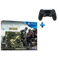 SONY - PS4 1 To E Camo Design + Call of Duty : World War II - Deluxe Edition + Qui es-tu ? voucher, + Dual Shock 4 - V2 - NOIRE