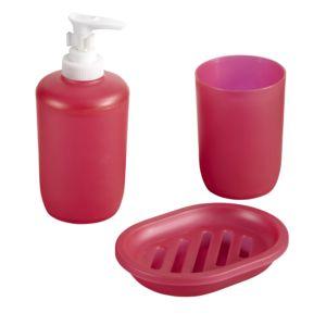 CARREFOUR HOME - Lot de 3 accessoires salle de bain en plastique ...
