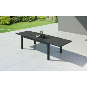 ims garden hara xxl table de jardin extensible aluminium 200 320cm 12 places. Black Bedroom Furniture Sets. Home Design Ideas