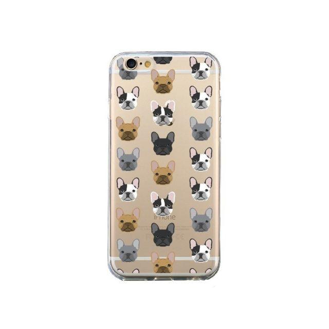 coque iphone 6 et 6s chiens bulldog fran c3 a7ais transparente pet friendly
