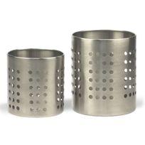 Revimport - Pots à couverts set de 2, 10 et 12 cm inox