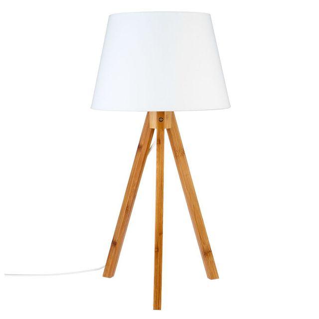 Atmosphera - Lampe Bahi blanc H55cm