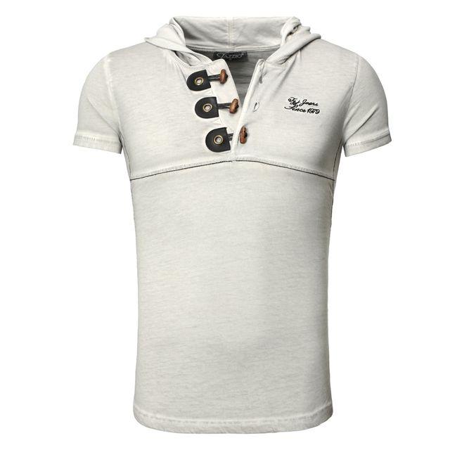 Tazzio - Tee shirt gris clair mode T-shirt Tz119 gris clair - pas ... 52bc65372ec1