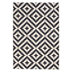 alin a geometrix tapis160x230cm noir et blanc pas cher achat vente rideaux douche. Black Bedroom Furniture Sets. Home Design Ideas