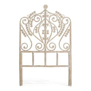 alin a boh me t te de lit coloris naturel blanchi style boh me pour lit 90cm pas cher achat. Black Bedroom Furniture Sets. Home Design Ideas