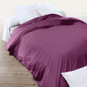 linnea housse de couette uni 260x240 cm 100 coton alto raisin violet 260cm x 240cm pas. Black Bedroom Furniture Sets. Home Design Ideas