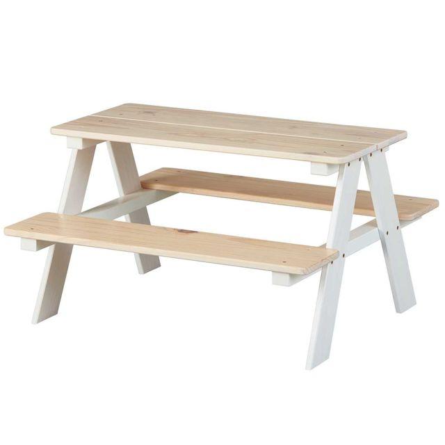 Altobuy Anders - Table avec Bancs pour Enfant