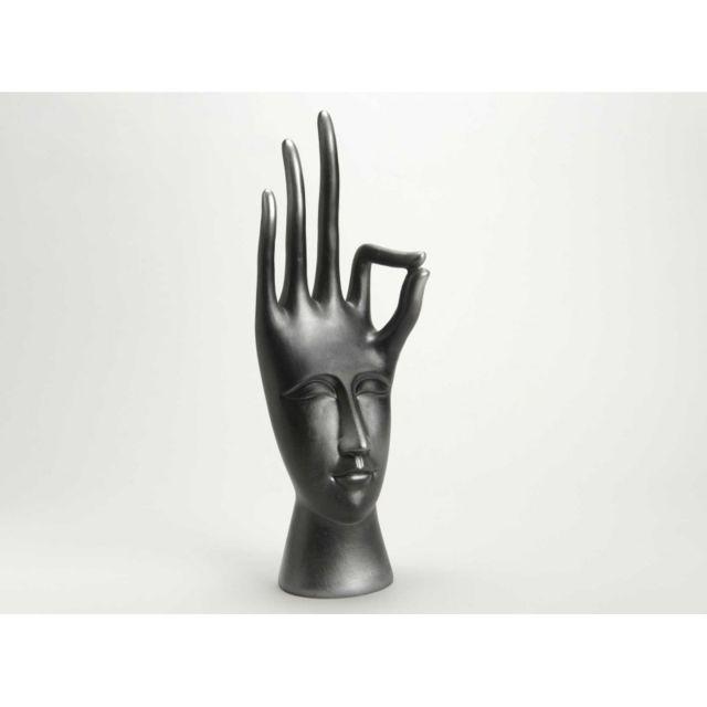 Autre Statue Visage Elena Gris H45