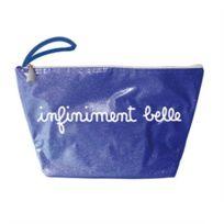 Decoetdesmots - Trousse Voyage bleue à paillettes - infiniment belle