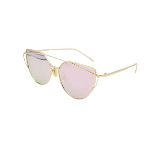 Wewoo - Lunettes de soleil or et rose Unisexe mode couleur film Uv400  lunettes de réfléchissantes 6ca59f33564e