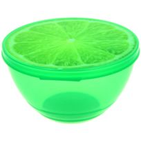 Promobo - Saladier Boite Alimentaire Box Fun Aspect Fruit Gourmand Citron Vert 0,5L