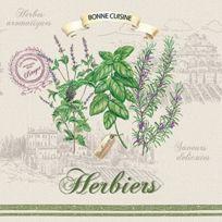 Sans marque - 414HERB Collection Herbiers Paquet De 20 Serviettes Papier