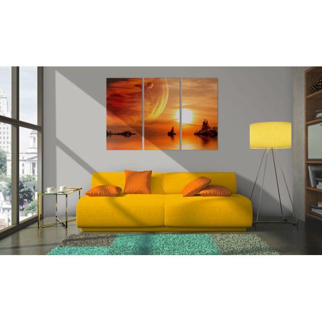 90x60 Tableau Joli Coucher du soleil romantique