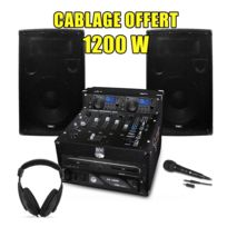 My Deejay - Pack Sono Dj Complet 1200W Ampli Double Lecteur Cd