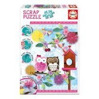 Educa - Puzzle 500 pièces : Scrap puzzle : Art de la Saint-Valentin