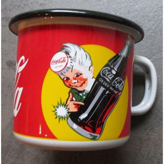 Universel Mug coca cola en email tasse à café emaillée sprite boy
