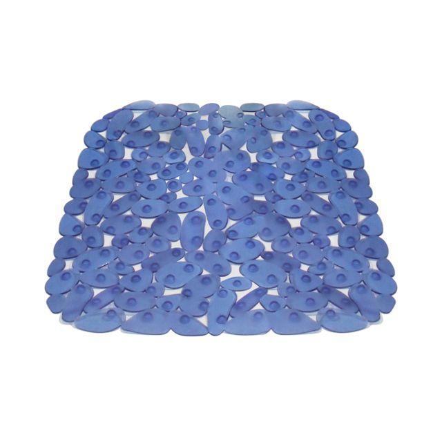 carrefour tapis de douche antid rapant galets plastique 53 x 53 cm bleu 9911101 pas. Black Bedroom Furniture Sets. Home Design Ideas