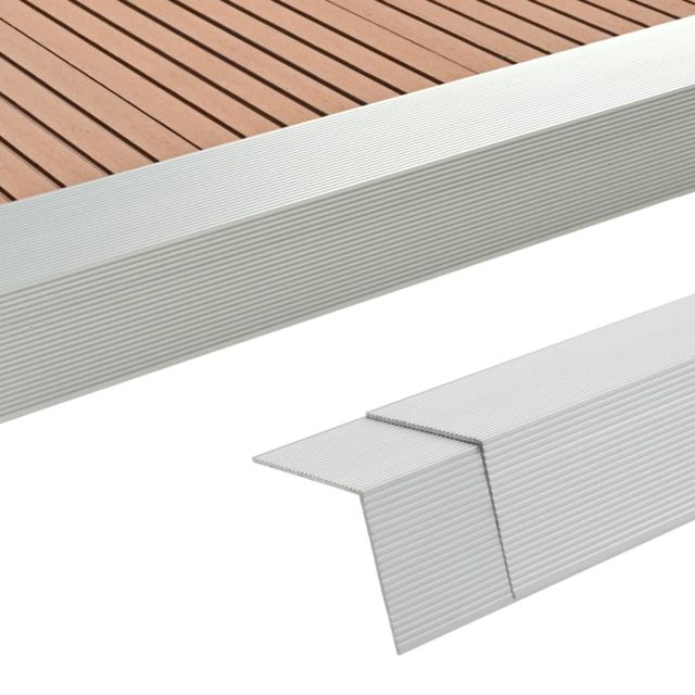 Vidaxl Cornière de terrasse 5 pcs Aluminium 170 cm Argenté - Matériaux de construction - Tapis et revêtements de sol   Argent  