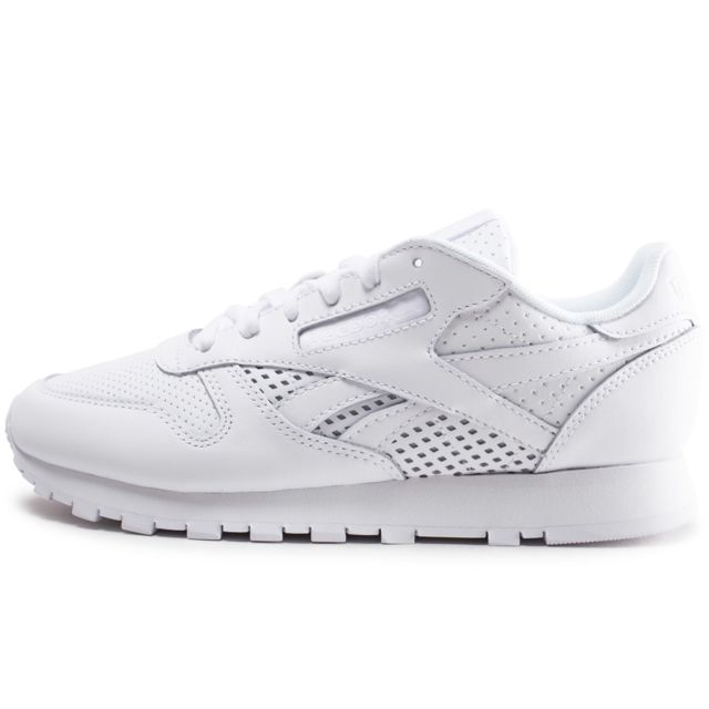 Reebok Classic Leather Blanche Femme pas cher Achat