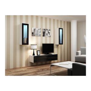 chloe design meuble tv design suspendu viki blanc et noir pas cher achat vente meubles. Black Bedroom Furniture Sets. Home Design Ideas