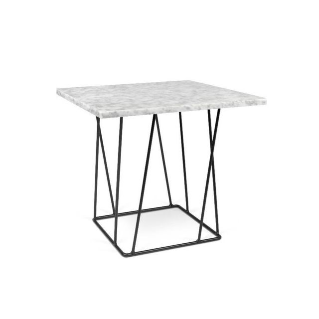 Inside 75 Table basse Helix 50 en marbre blanc
