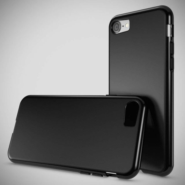 coque iphone 8 noir mat silicone