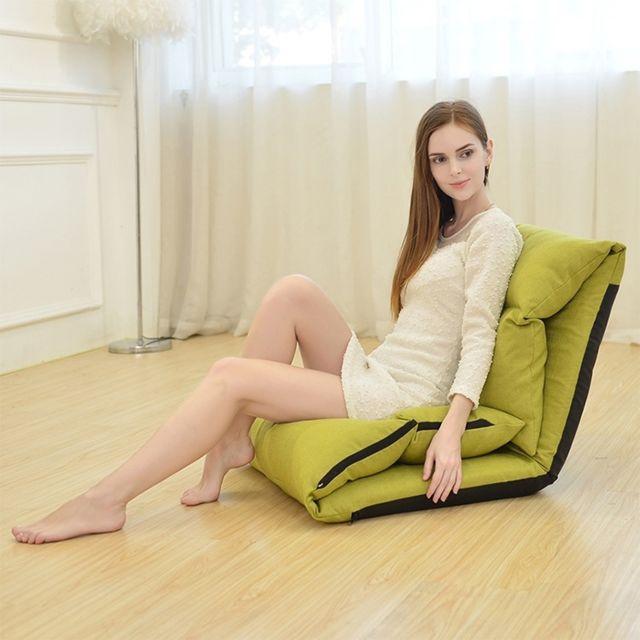 Wewoo B1 fauteuil-fauteuil tatami pliable et lavable paresseux-lit vert