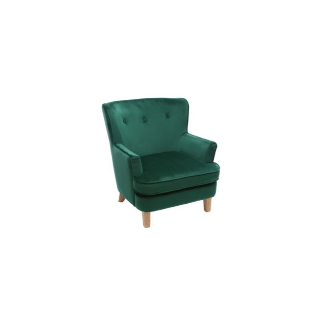 miliboo fauteuil classique velours vert meraude cezanne. Black Bedroom Furniture Sets. Home Design Ideas